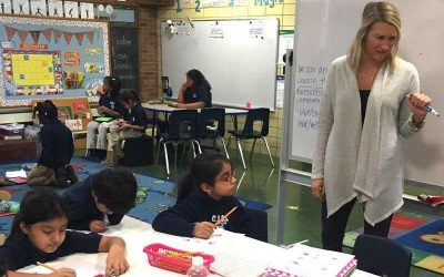 Photo of students of multiple ages working together in one classroom