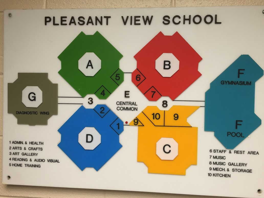 Pleasant View Elementary School floor plan.