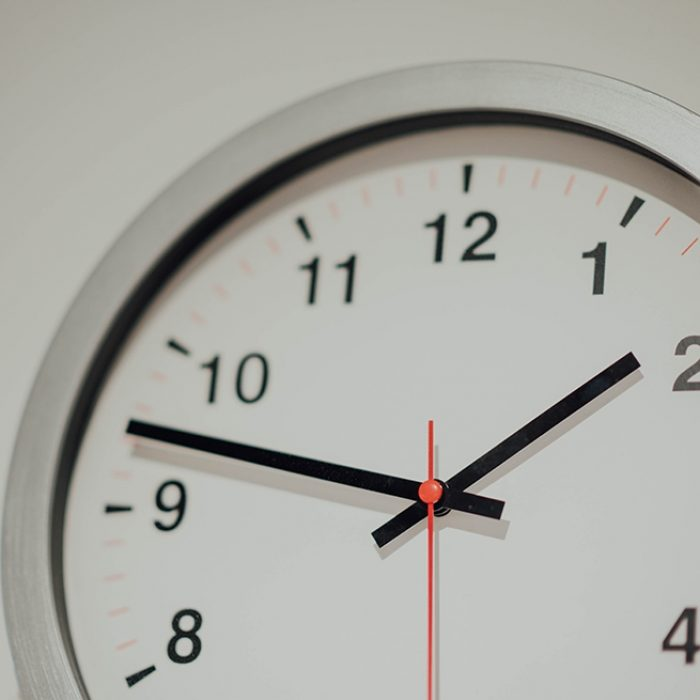 Cropped angle of a wall clock