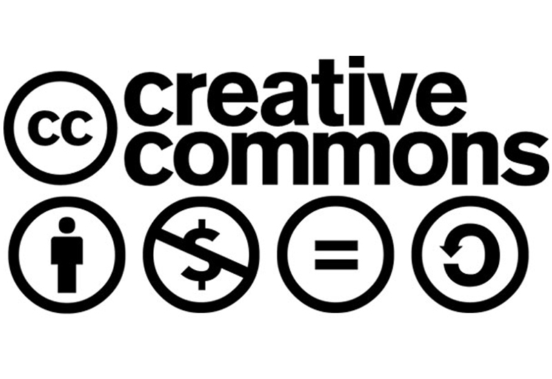 Creative Commons logo along with licensing logos