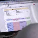 Screenshot of planning dashboard on laptop