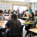 Photo of high-school classroom